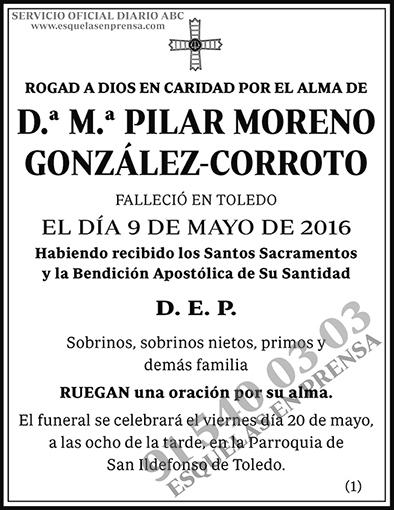 M.ª Pilar Moreno González-Corroto